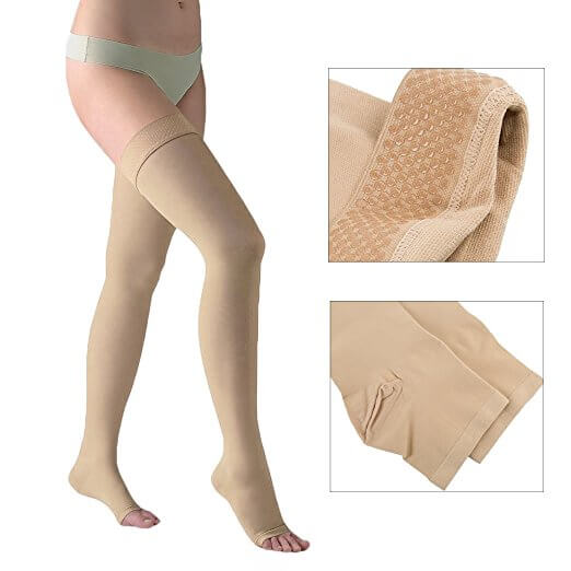 20-30 mmHg Gradient Compression Stockings Open Toe