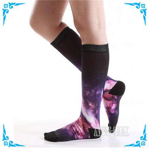 360 degrees of digital printing compression socks