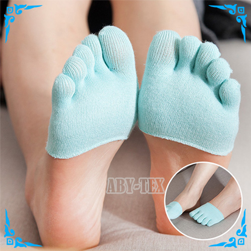 Breathable full toe cover socks Item AS-050 blue