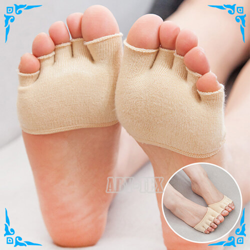 Breathable toe cover socks Item AS-050 beige