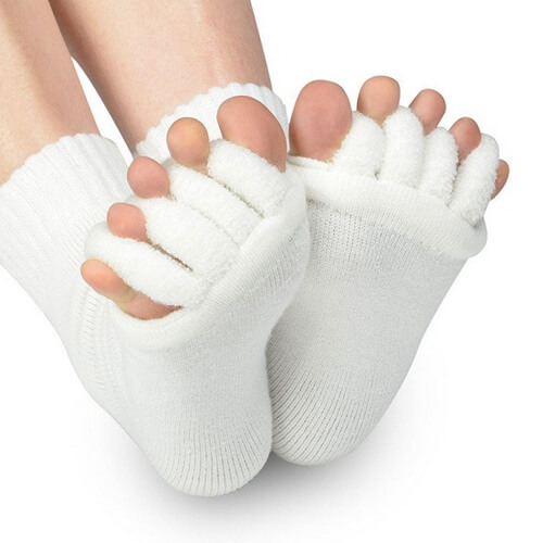 Comfy Toes Foot Alignment Socks Toe Spacer Relaxing Comfort