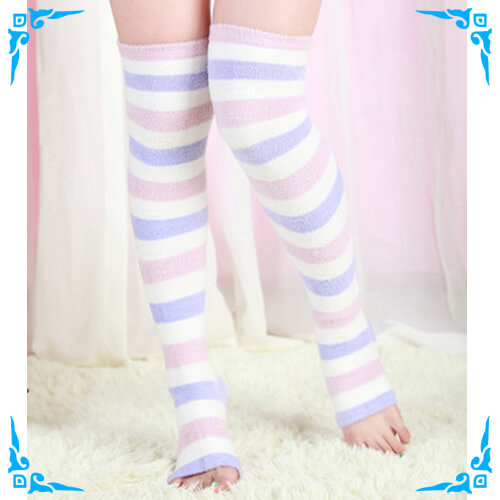 Coral Velvet Sleep Compression Toeless Socks