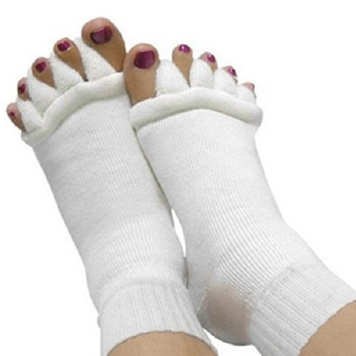 Foot Alignment Five Toe Separator Socks