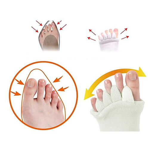 Foot Alignment Socks Massage Toeless Toe Separator For Women