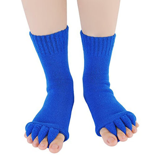 GYM Massage Toeless Separator Alignment Socks