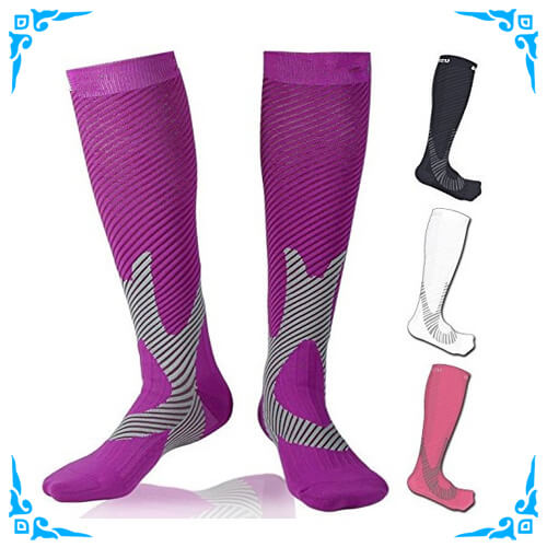 Sport Compression Socks for Flight Travel