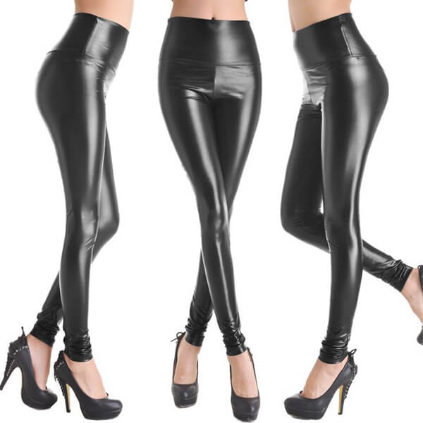 Women's Stretchy Faux Leather Pants