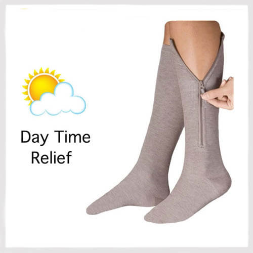 closed toe zippered compression stockings