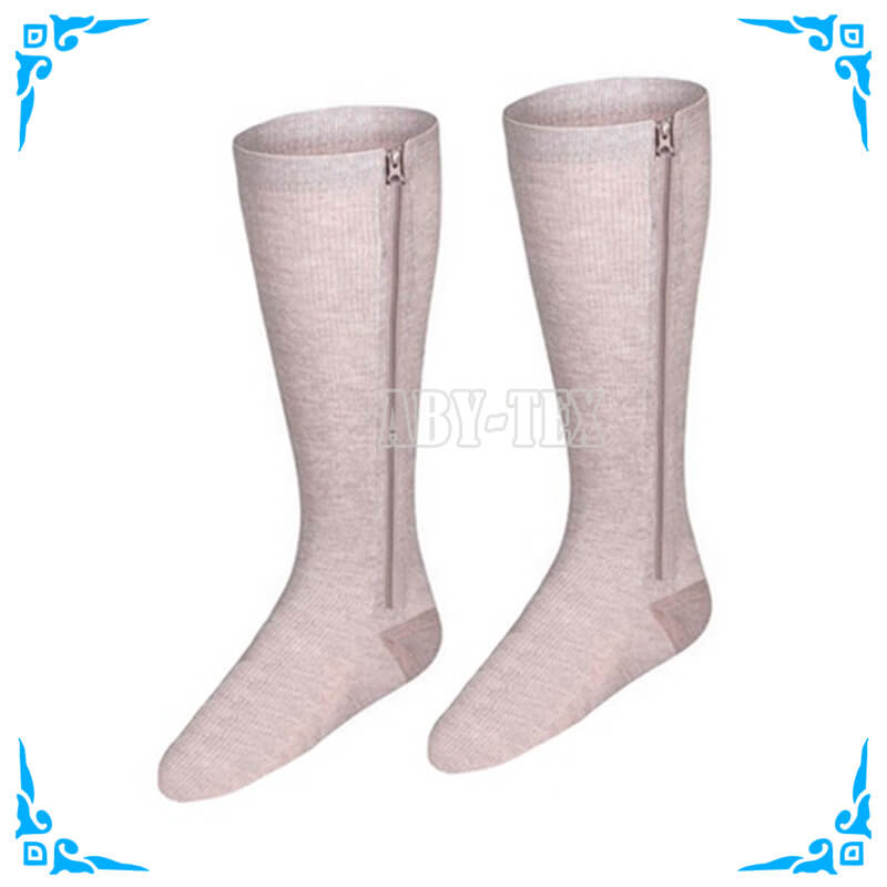 magnetic compression socks with zipper