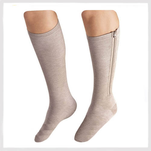 zippered compression socks closed toe